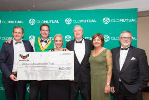 About us -loveAfrica and Rhino Army cheque hand over